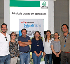 Painel de oradores: Carmo Martins (COTHN), Filipa Setas (LUSOSEM), Esmeraldina Sousa (INIAV), Felisbela Mendes (DGAV), João abreu (triportugal) e Nelson Matos (LUSOSEM)